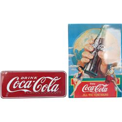 Lot Of 3 Coca Cola Tin Signs: