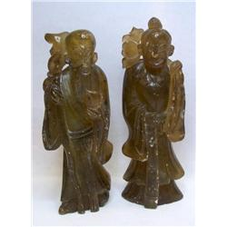 Lot-REAL BURMESE JADEITE STATUES-Extremely Rare