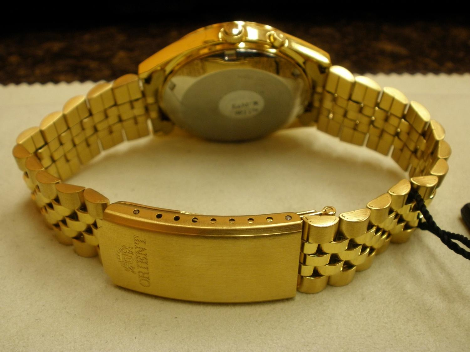 mens gold plated rolex style orient watch. Black Bedroom Furniture Sets. Home Design Ideas
