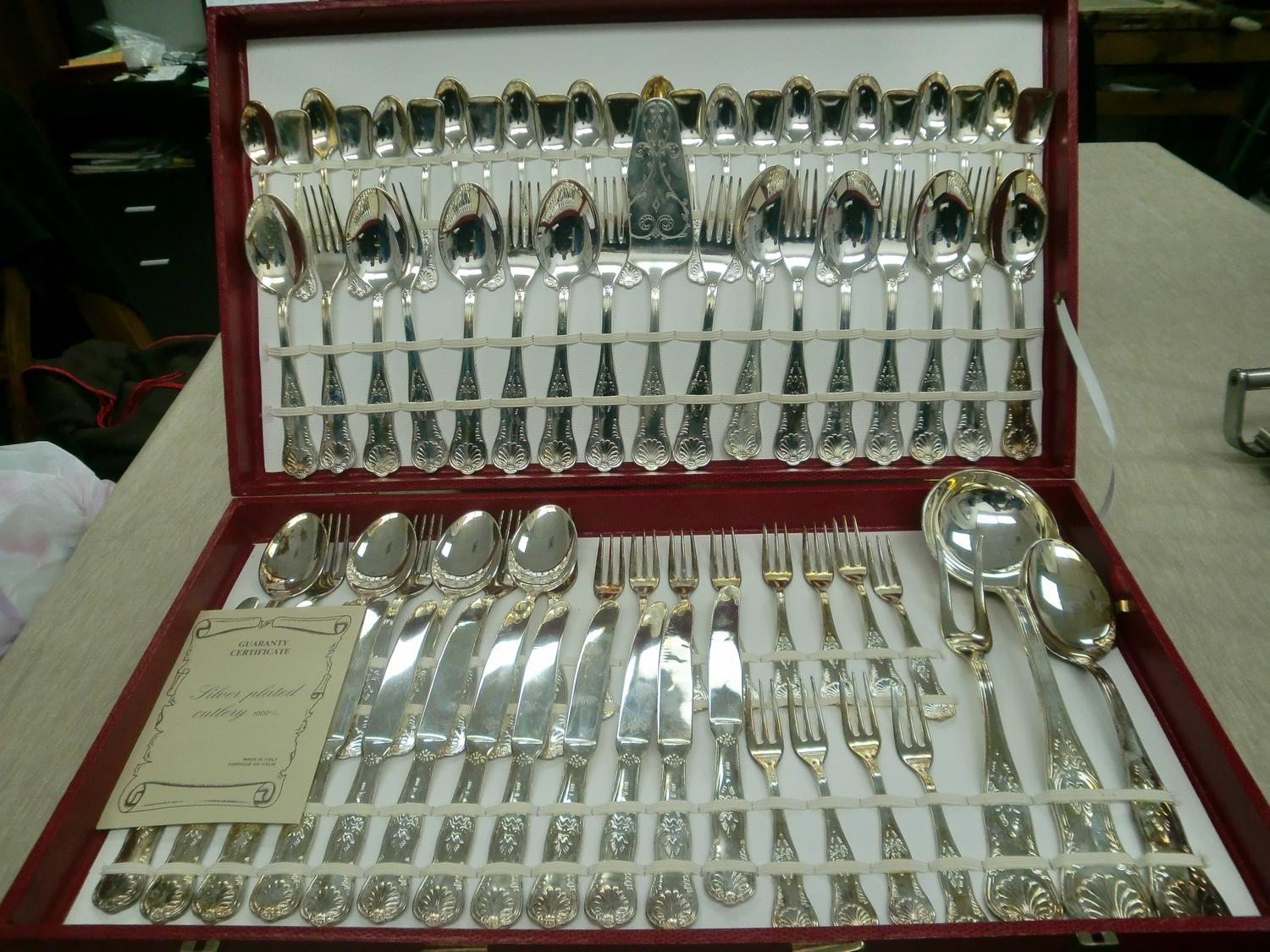 SILVER PLATED CUTLERY SET MADE IN ITALY. Loading zoom & SILVER PLATED CUTLERY SET MADE IN ITALY