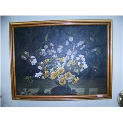 w. James Painting. Still Life Oil on Canvas