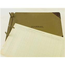 Early car dealerships cash journal great for ledger artwork.