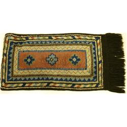 Tribal woven Persian wall hanging measuring 34  long.