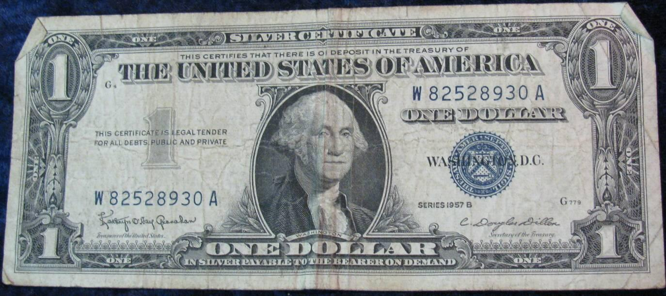 416 series 1957 b one dollar us silver certificate vg series 1957 b one dollar us silver certificate vg xflitez Images