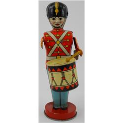 J Chein Tin Wind-Up Mechanical Soldier Drummer Toy