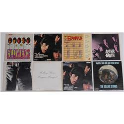 Eight Assorted Vintage Rolling Stones Albums