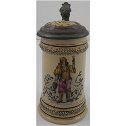 German ¼ -Liter Lidded Mug (Possibly for Wine)