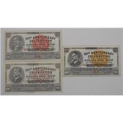 50th Anniversary Ringling Bros. Show Tickets from 1933