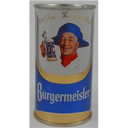 Burgermeister Beer 11-ounce Flat-Top Beer Can