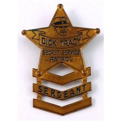 Dick Tracy Secret Service Badge from 1938