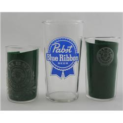 Pabst Beer Through The Ages:  3 Different Glasses