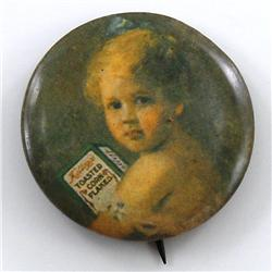 Kellogg's Corn Flakes Celluloid Pinback Button