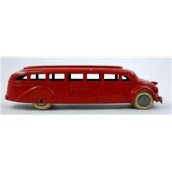 TootsieToy Greyhound Bus with Tin Bottom