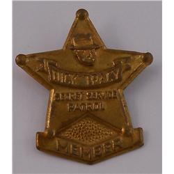 1939 Dick Tracy Secret Service Badge