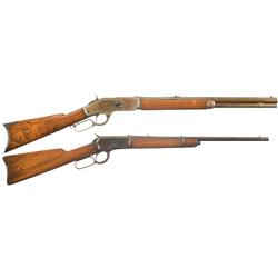 Two Winchester Lever Action Long Arms