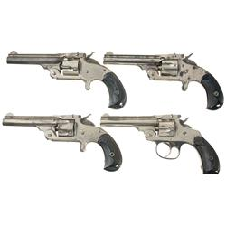 Four Smith & Wesson Model 32 Revolvers