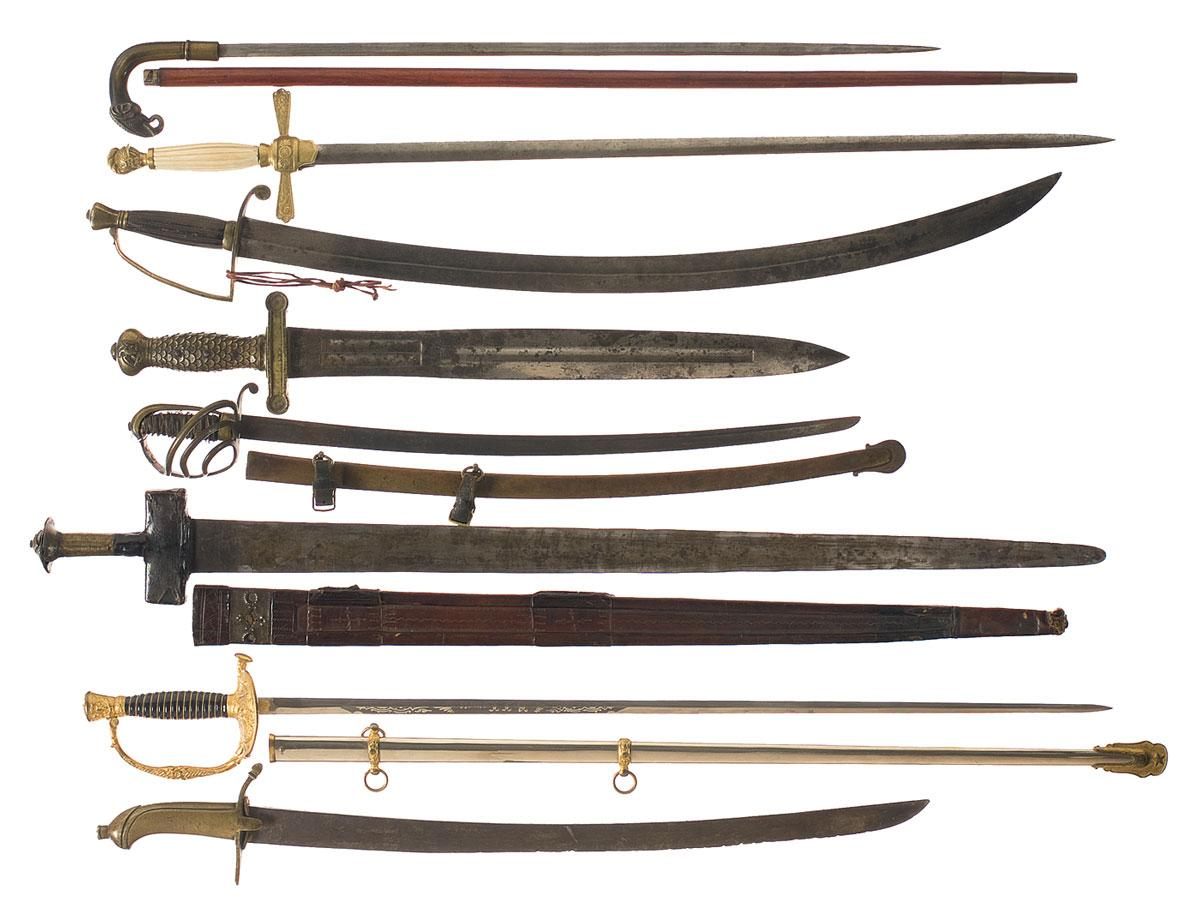 Seven Swords And One Sword Cane
