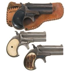 Three Remington Over and Under Derringers