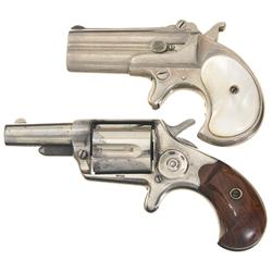 One Remington Derringer and One Colt Revolver