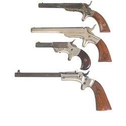 Four Single Shot Pistols