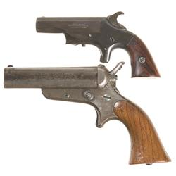 One Derringer and One Pepperbox Pistol