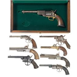 Four Revolvers and Four Pistols