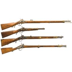 Four Percussion Long Guns