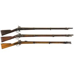 Three Percussion Muskets