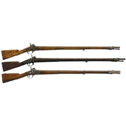 Three Percussion Long Guns