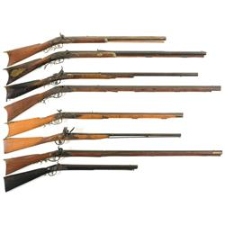 Eight Antique Long Guns