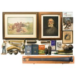 Large Assortment of Military Themed Collectibles
