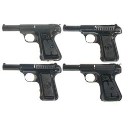 Collector's Lot of Four Savage Semi-Automatic Pistols