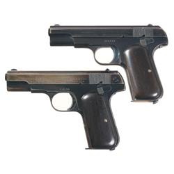 Two Colt Model 1903 Pocket Hammerless Semi-Automatic Pistols