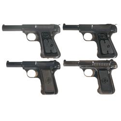 Collector's Lot of Four Savage Arms Semi-Automatic Pistols