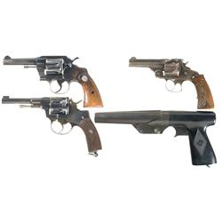 Three Revolvers and One Flare Pistol
