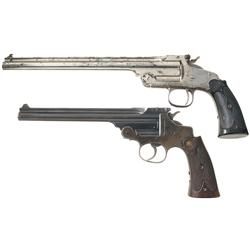 Two Smith & Wesson Single Shot Pistols