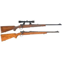 Two Winchester Model 70 Bolt Action Rifles