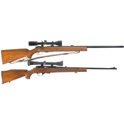 Two Scoped Rifles