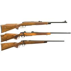 Three Bolt Action Rifles