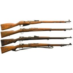 Four Bolt Action Martial Rifles