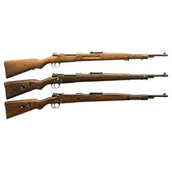 Three Mauser 98 Bolt Action Rifles