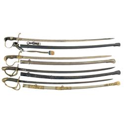 Four 19th Century Military Swords