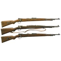 Three Model 98 Bolt Action Rifles