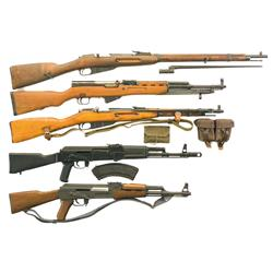 Four Rifles and One Carbine