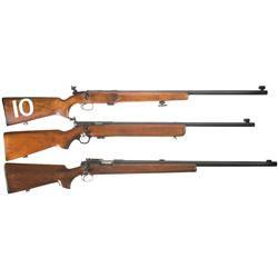 Three U.S. 22 Caliber Training Rifles A) Remington 541 Training Rifle with CMP Box