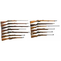 Thirteen Bolt Action Rifles and Carbines