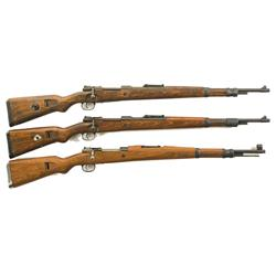 Three European Bolt Action Military Rifles