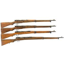 Four WWII Japanese Type 99 Rifles