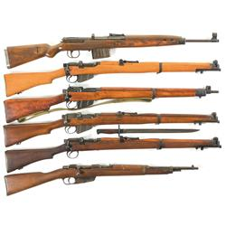 Five Rifles and One Shotgun