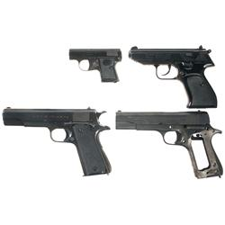 Three Semi-Automatic Pistols and a Ballester-Molina Slide and Frame